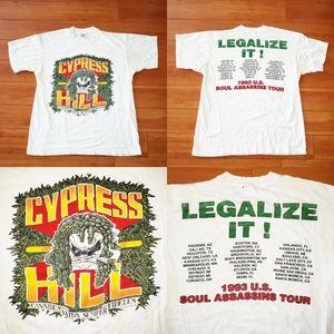 VTG 1993 Cypress Hill Rap Tour Concert U.S Soul XL
